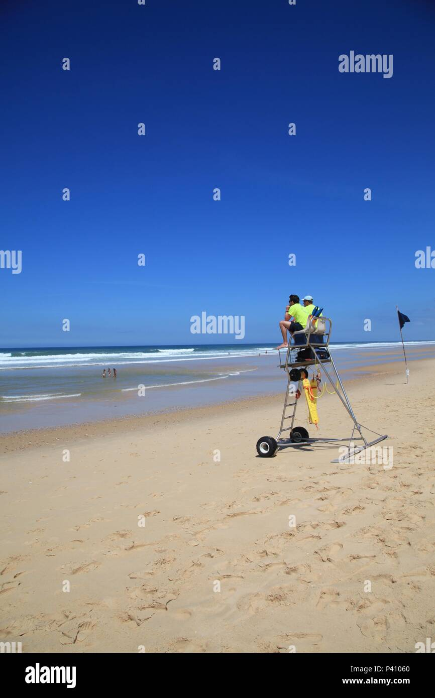 Plage de l'Horizon Cap Ferret Aquitaine France Photo Stock