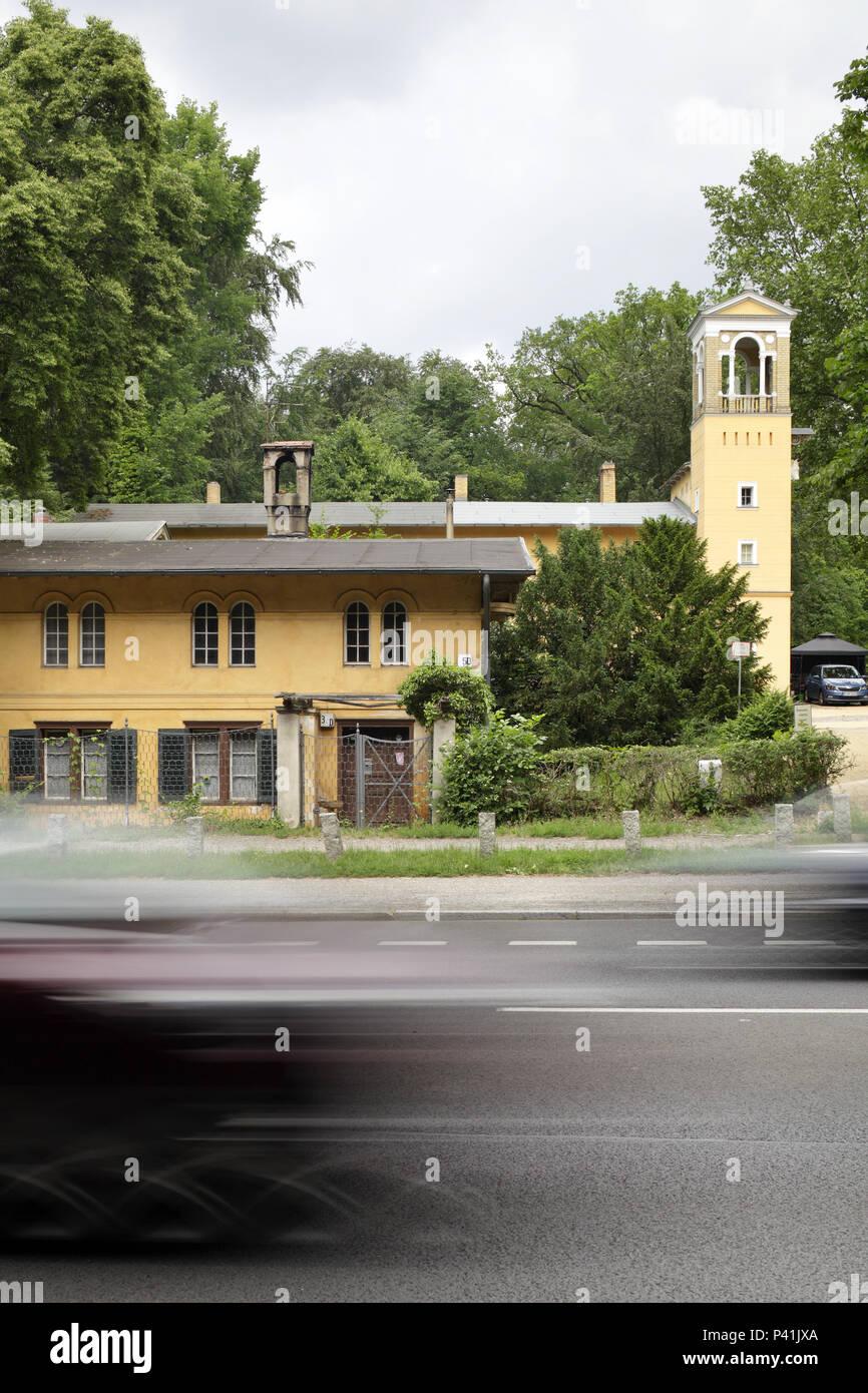 Berlin, Allemagne, bâtiment d'entreprise Schloss Klein-Glienicke sur Koenigstrasse à Berlin-Wannsee Banque D'Images