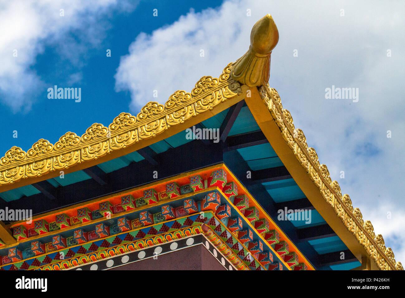 Chagdud Gonpa Templo Templo Budista Ling, Moissac Tibetano, Cotia, Sao Paulo. Banque D'Images
