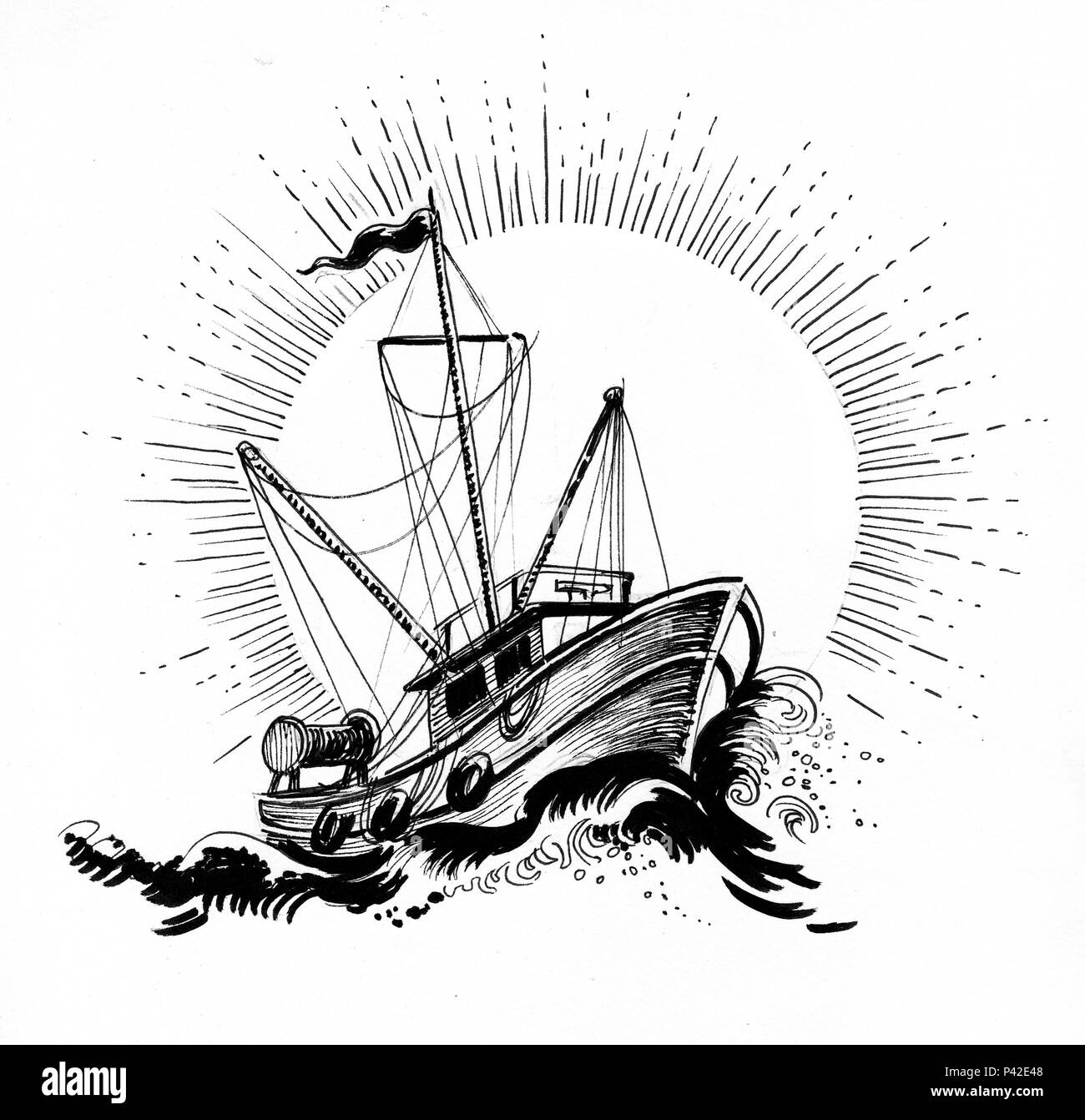 Boat Drawing Photos Boat Drawing Images Alamy