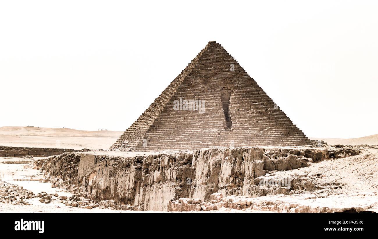 Pyramides de Gizeh au Caire Banque D'Images