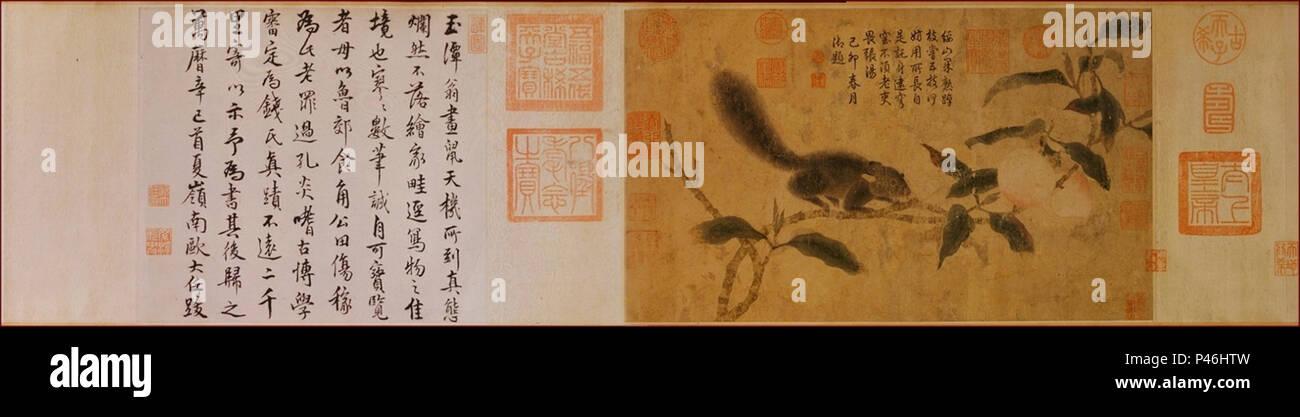 11 Qian Xuan. Sqirrel. Musée national du Palais, Taipei. Photo Stock