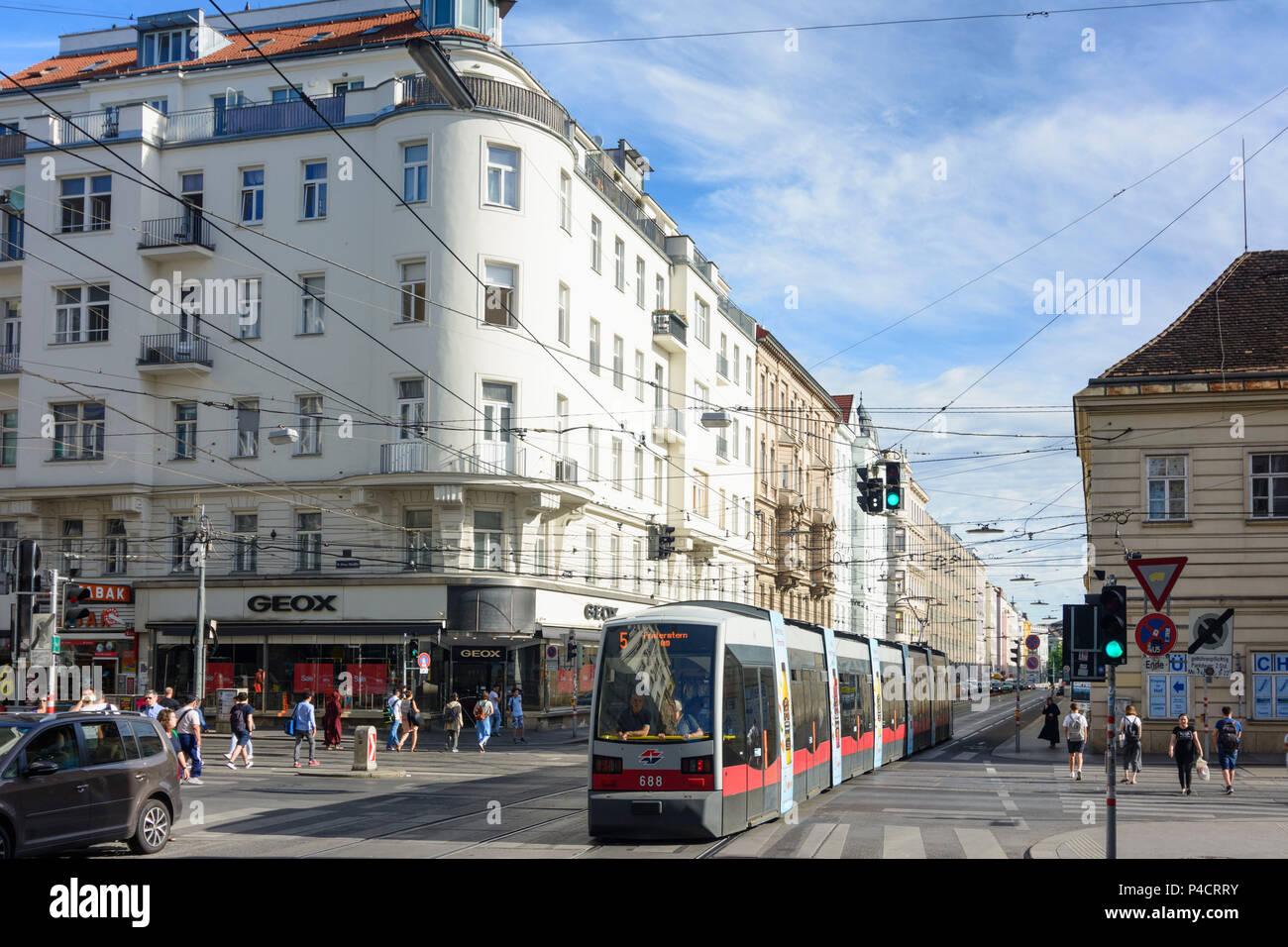 Vienne, carrefour Spitalgasse / Alser Straße, 09. Alsergrund, Wien, Autriche Photo Stock