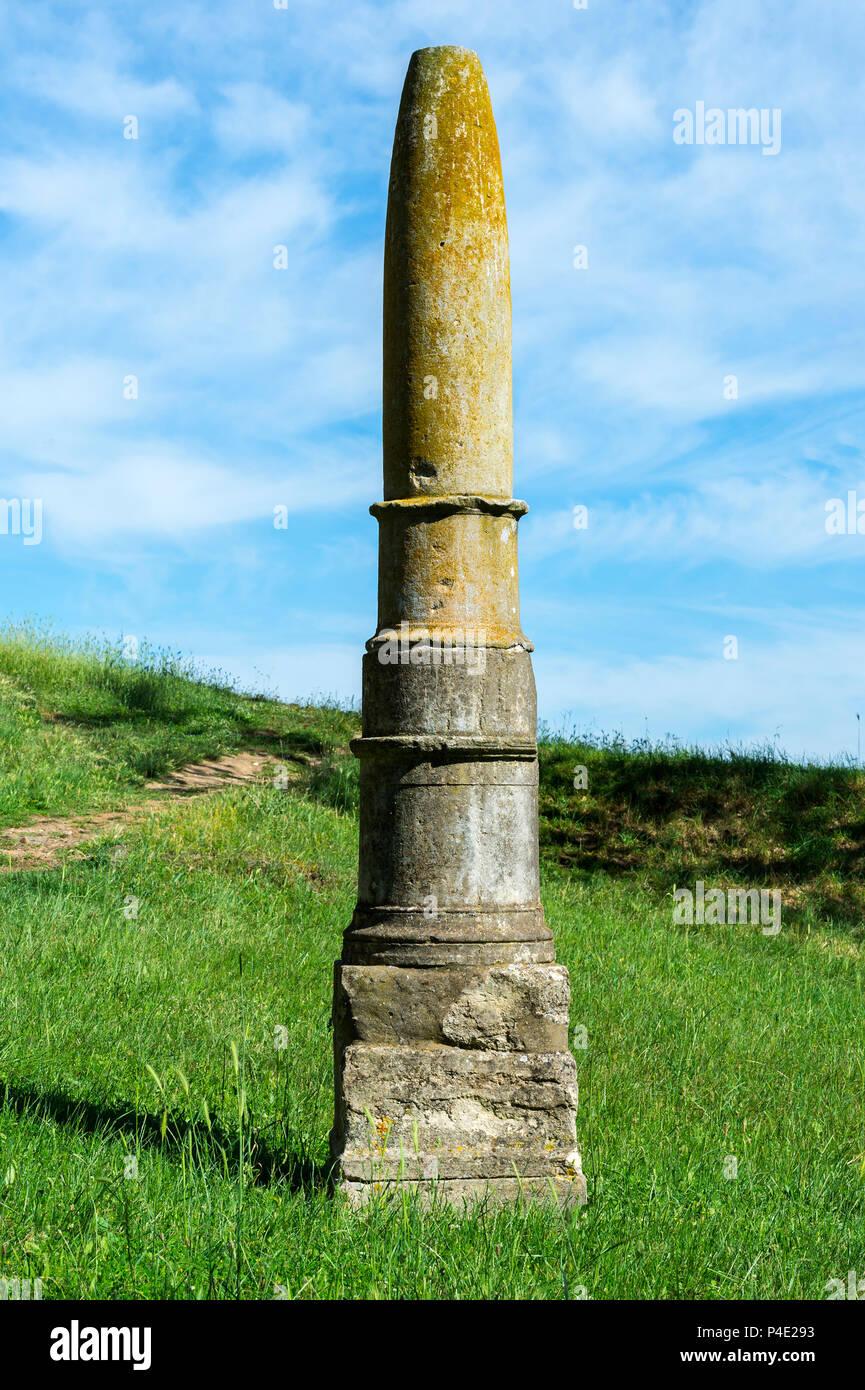 Apollo a un obélisque, Parc archéologique d'Apollonia, l'Illyrie, Village Pojani, Albanie Photo Stock