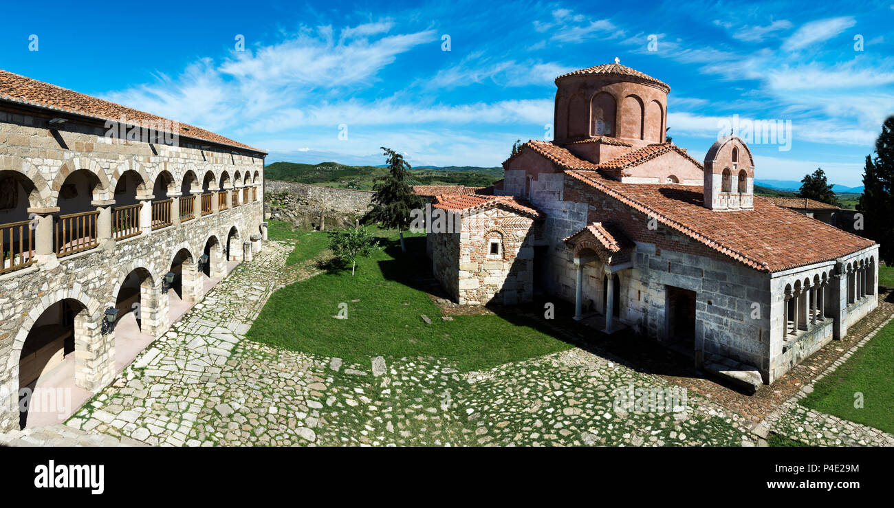 Abbaye byzantine de Pojan, Saint Mary Église orthodoxe et monastère, Parc archéologique d'Apollonia, l'Illyrie, Village Pojani, Albanie Photo Stock