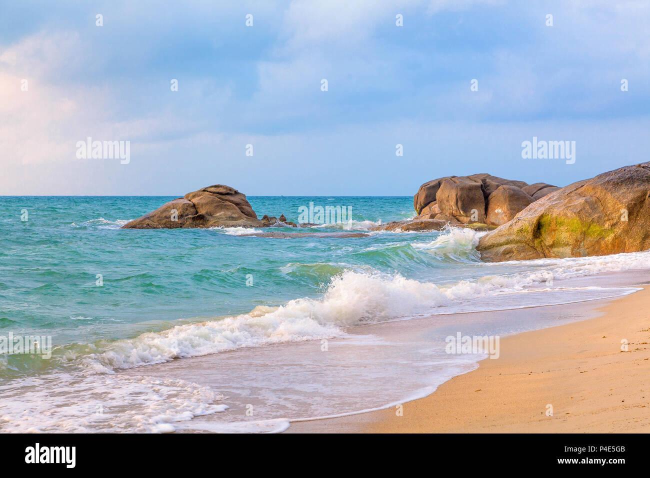 Matin sur l'île de Koh Samui. Photo Stock