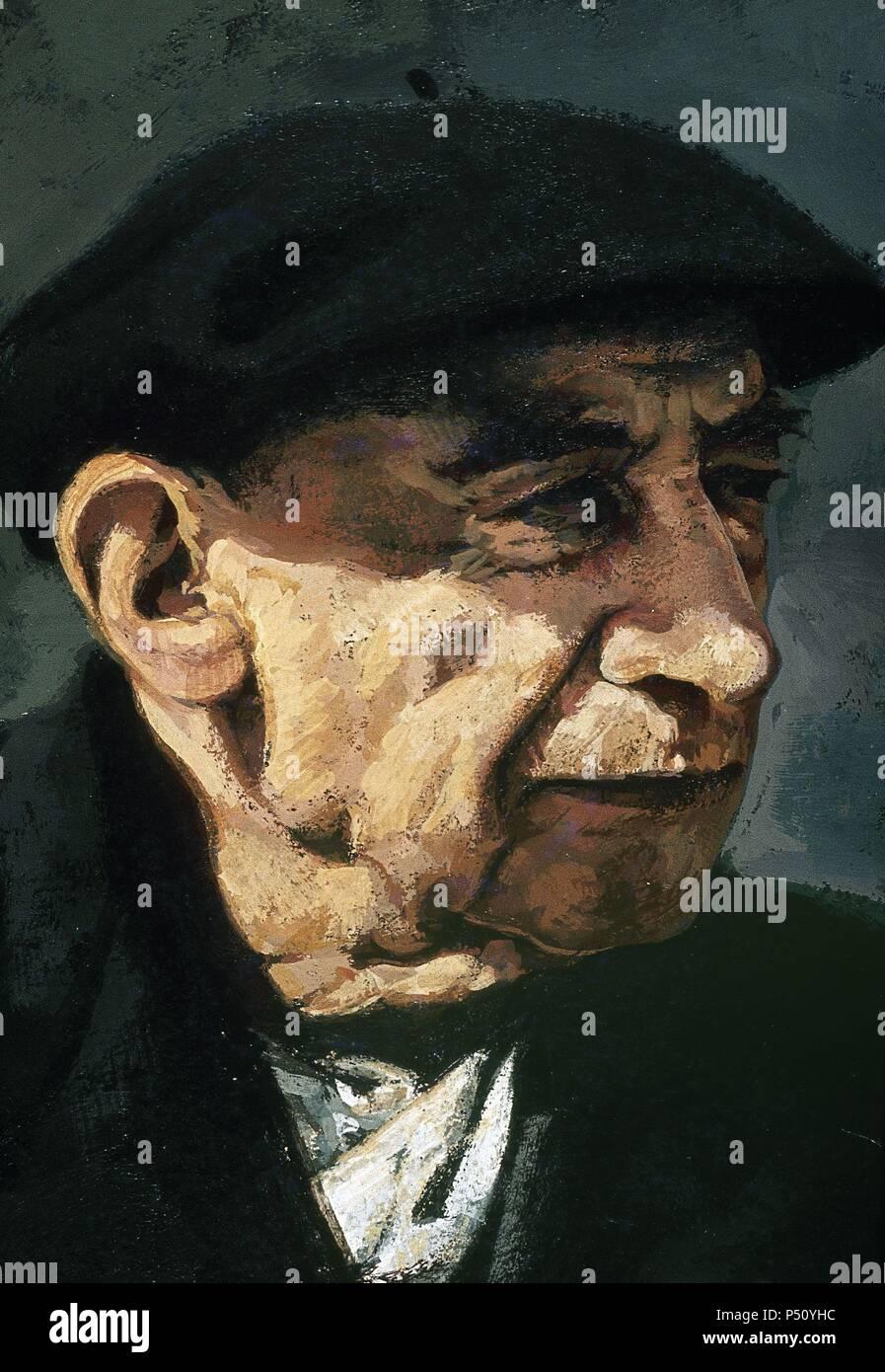 Henri Breuil (1877-1961), souvent désigné comme l'abbé Breuil. Prêtre catholique français, archéologue, anthropologue, ethnologue et géologue. Portrait. Banque D'Images