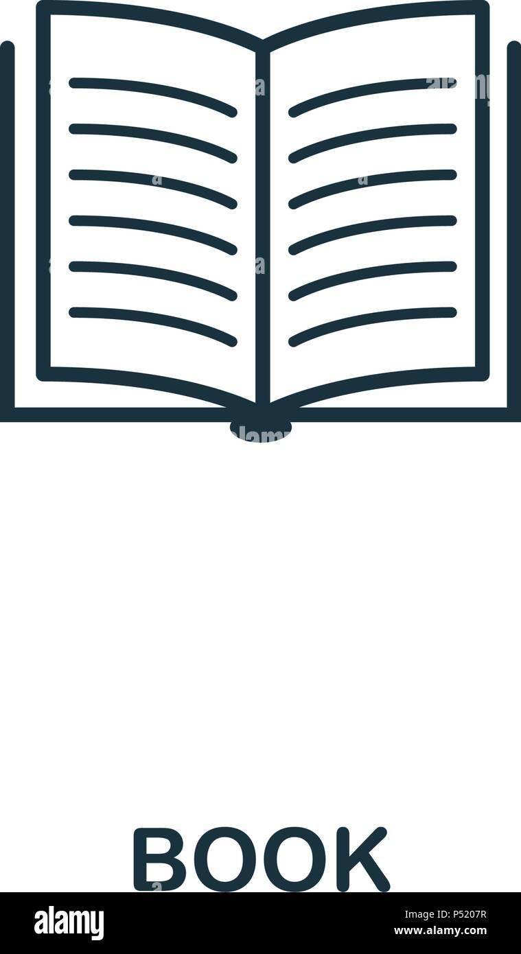 Icone En Forme De Livre L Icone De Style De Ligne Design L