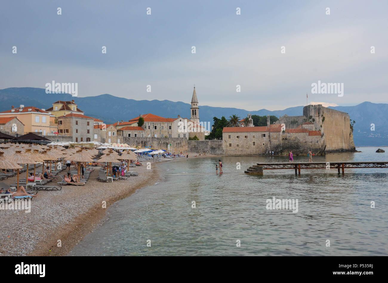 Vieille ville (Stari Grad), Budva, Monténégro, Côte Adriatique, Balkans, mai 2018 Banque D'Images