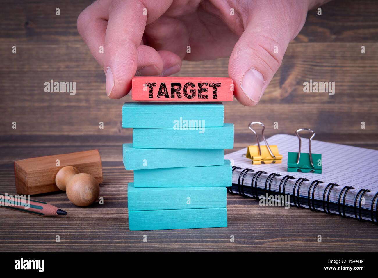 Concept d'entreprise cible Photo Stock