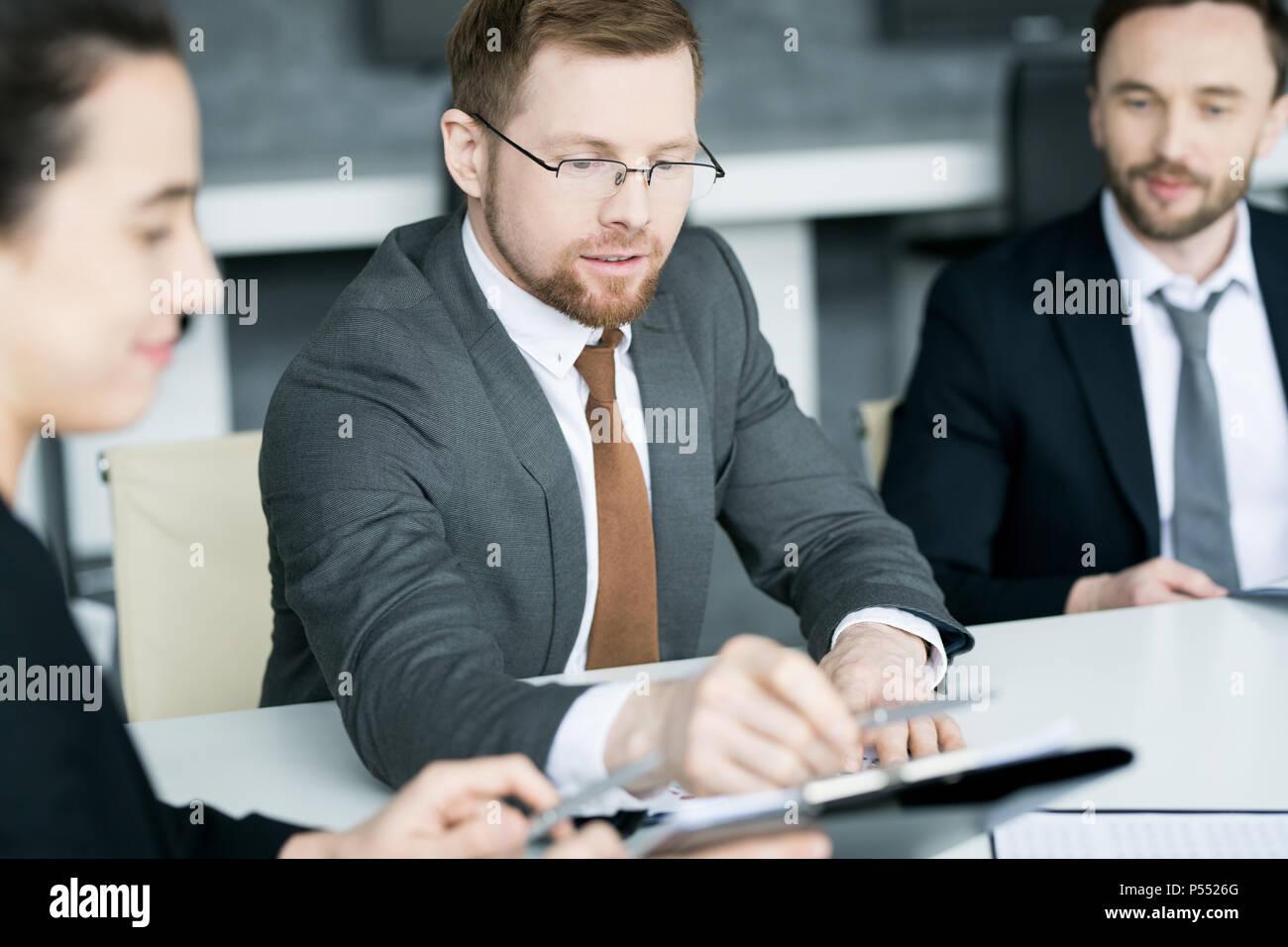 Les entreprises de clients Contrat Signature Photo Stock