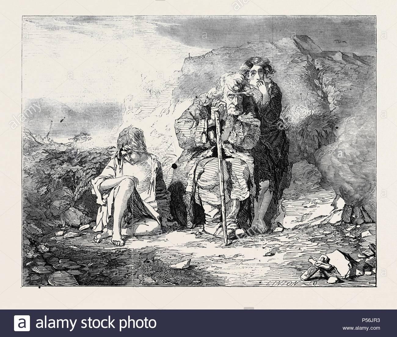 Mendiants IRLANDAIS PAR ALFRED FRIPP. Photo Stock