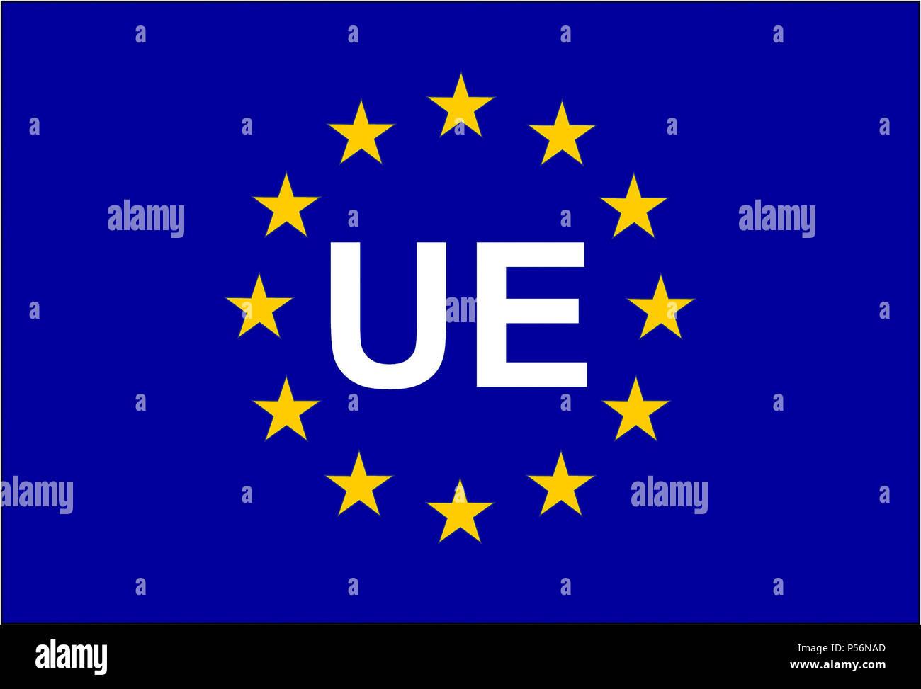 Drapeau de l'Union européenne symbole SNA UE Photo Stock