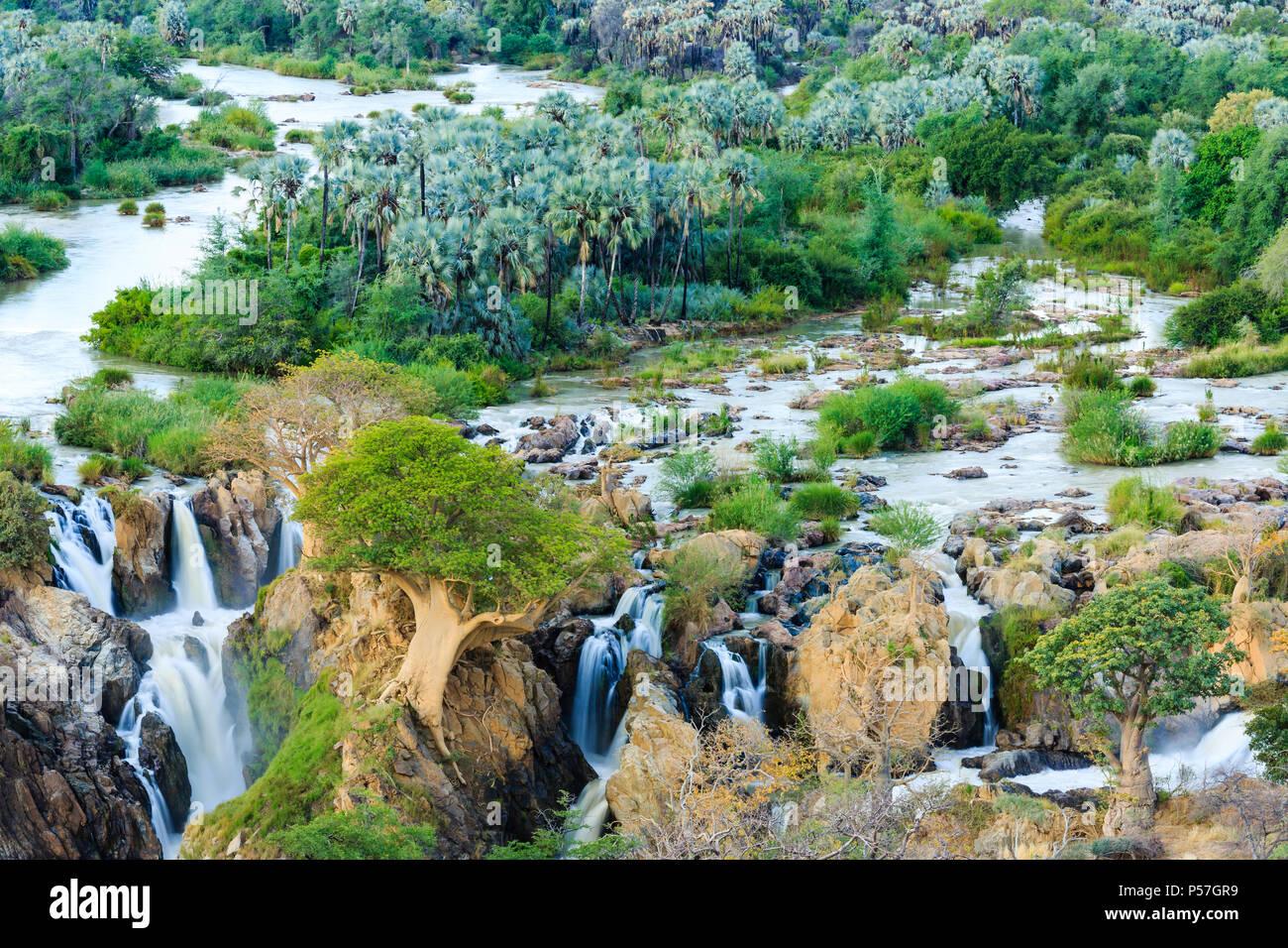 Epupa Falls, Kunene, région de Kunene, Namibie Banque D'Images