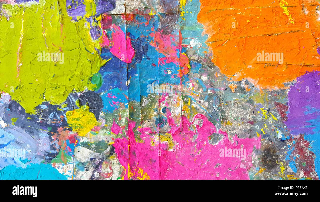 Résumé Pour Peinture Haute En Couleur Texture Background Acrylique