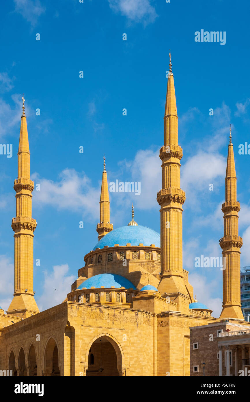 Mohammed al-Amin Mosque in Beirut, Liban Photo Stock