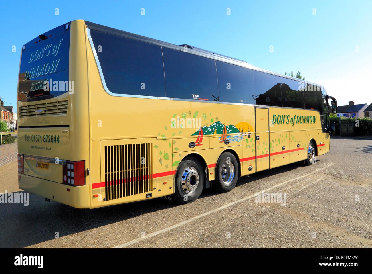 Don's de Dunmow, autocar, bus, transport, England, UK Photo Stock