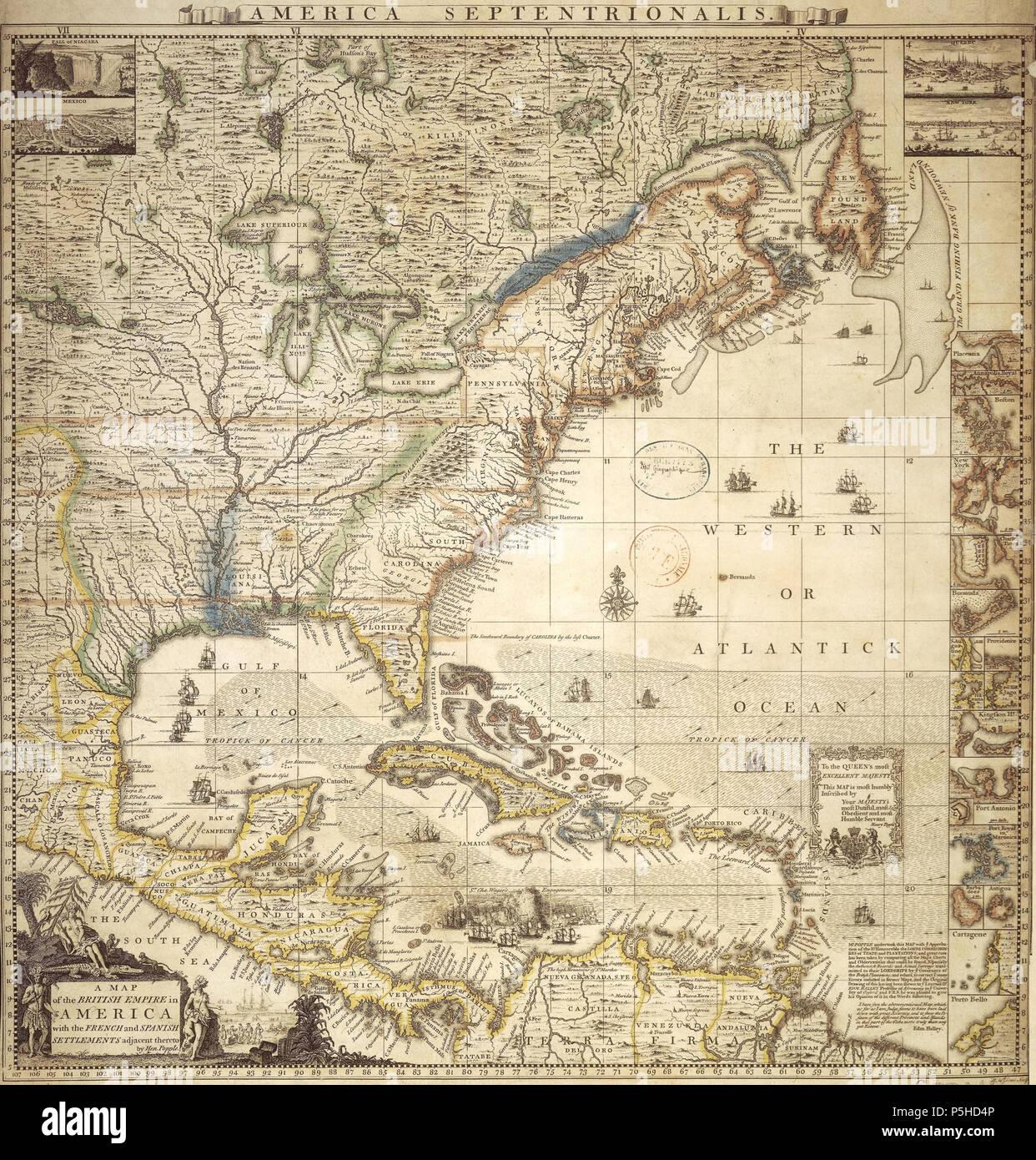 Carte Espagne Hd.N A Anglais Une Carte De L Empire Britannique En Amerique Du Nord