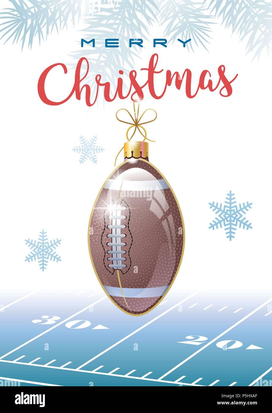 Joyeux Noel Sports Carte De Vœux American Football Realiste Ou