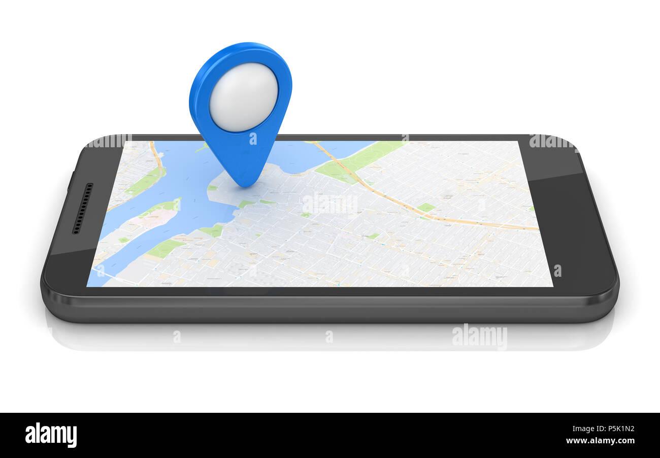 recherche telephone portable avec gps