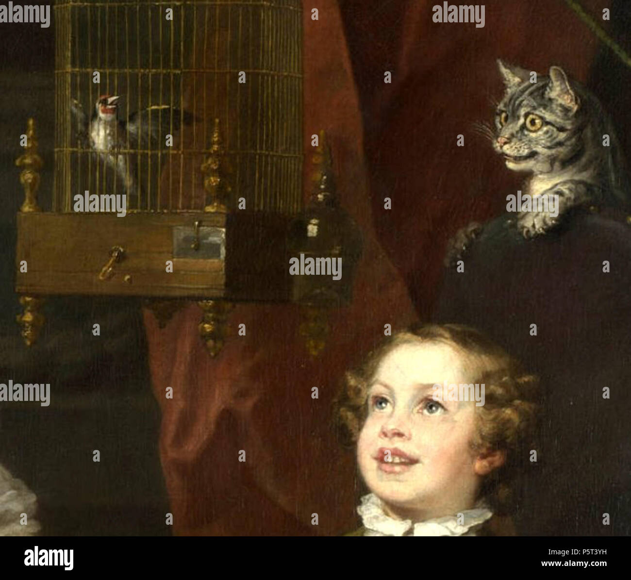 n  a  anglais   chat et l u0026 39 oiseau  l u0026 39 enfant  graham hogarth    1742  william hogarth  1697