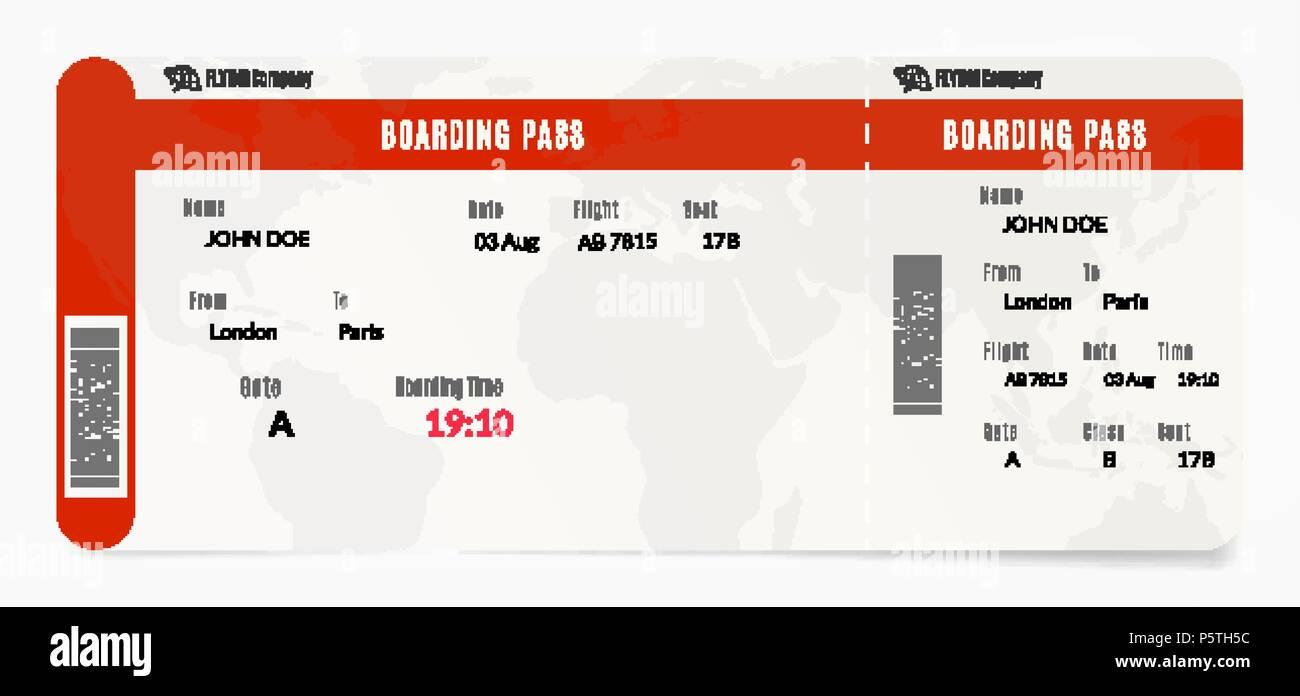 Embarquement a rien billet d 39 avion illustration du - Modele billet avion a imprimer ...
