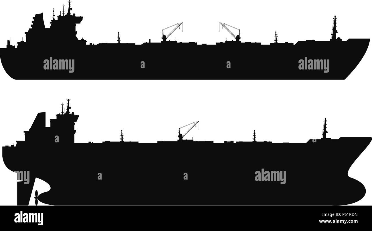 Jeu de silhouettes des pétroliers. Vector Illustration de Vecteur