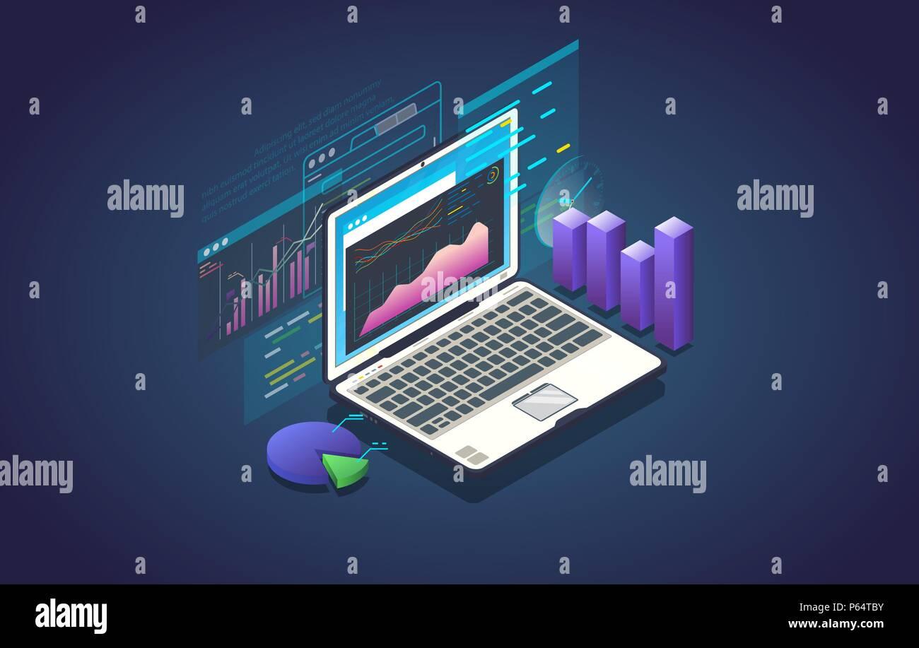 Bannière de l'analyse des données Photo Stock