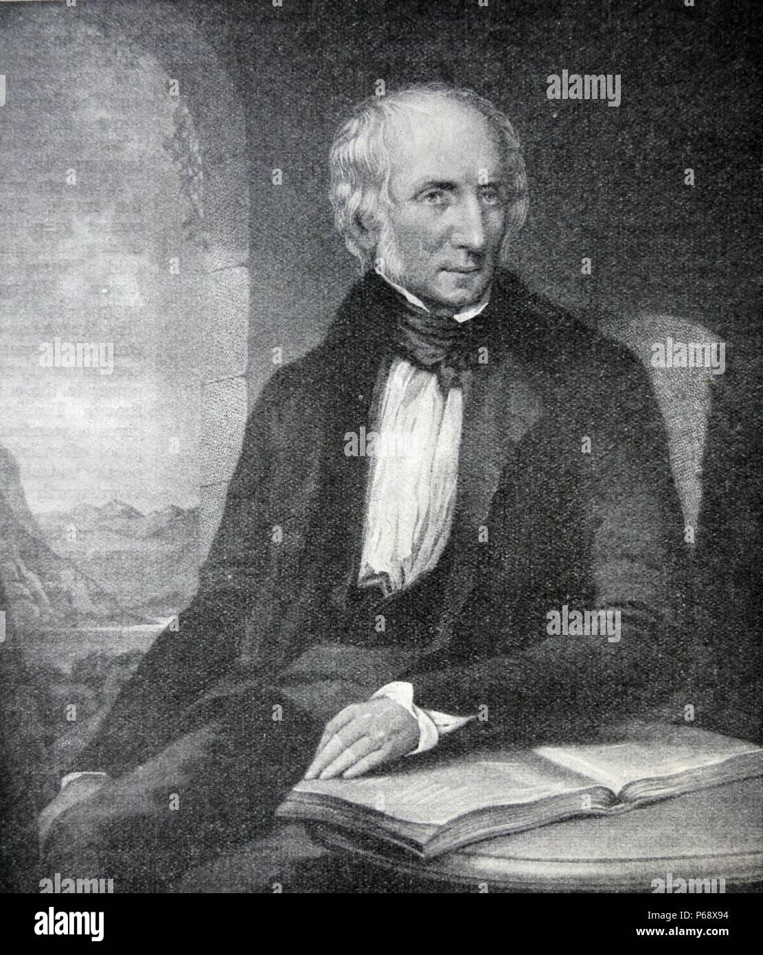 Littérature Romantique Anglaise portrait de william wordsworth (1770-1850) était un grand poète