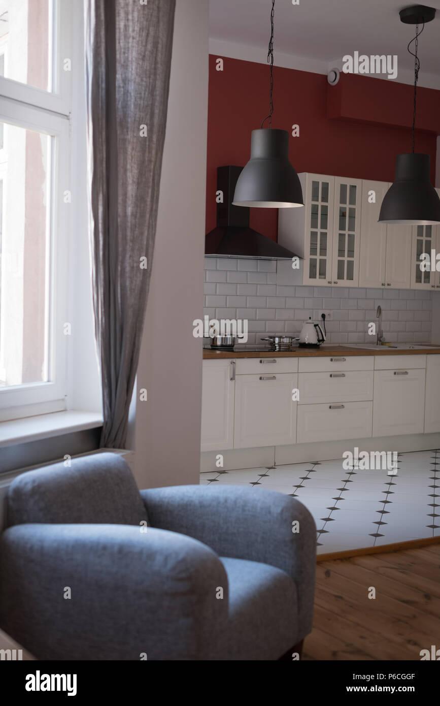 Intérieur de cuisine moderne Banque D'Images