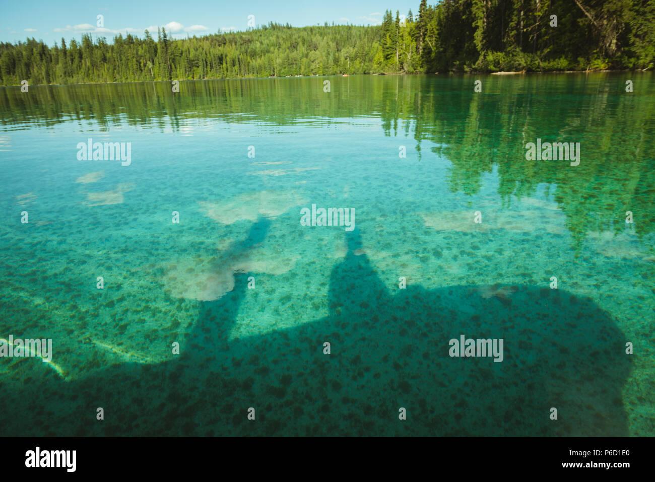 Une journée ensoleillée sur le lac Banque D'Images