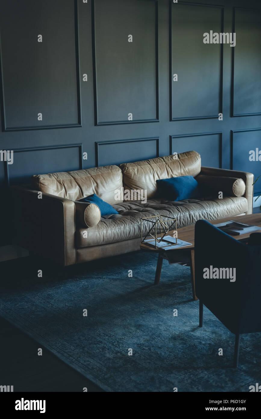 Canapé et chaise in office Banque D'Images