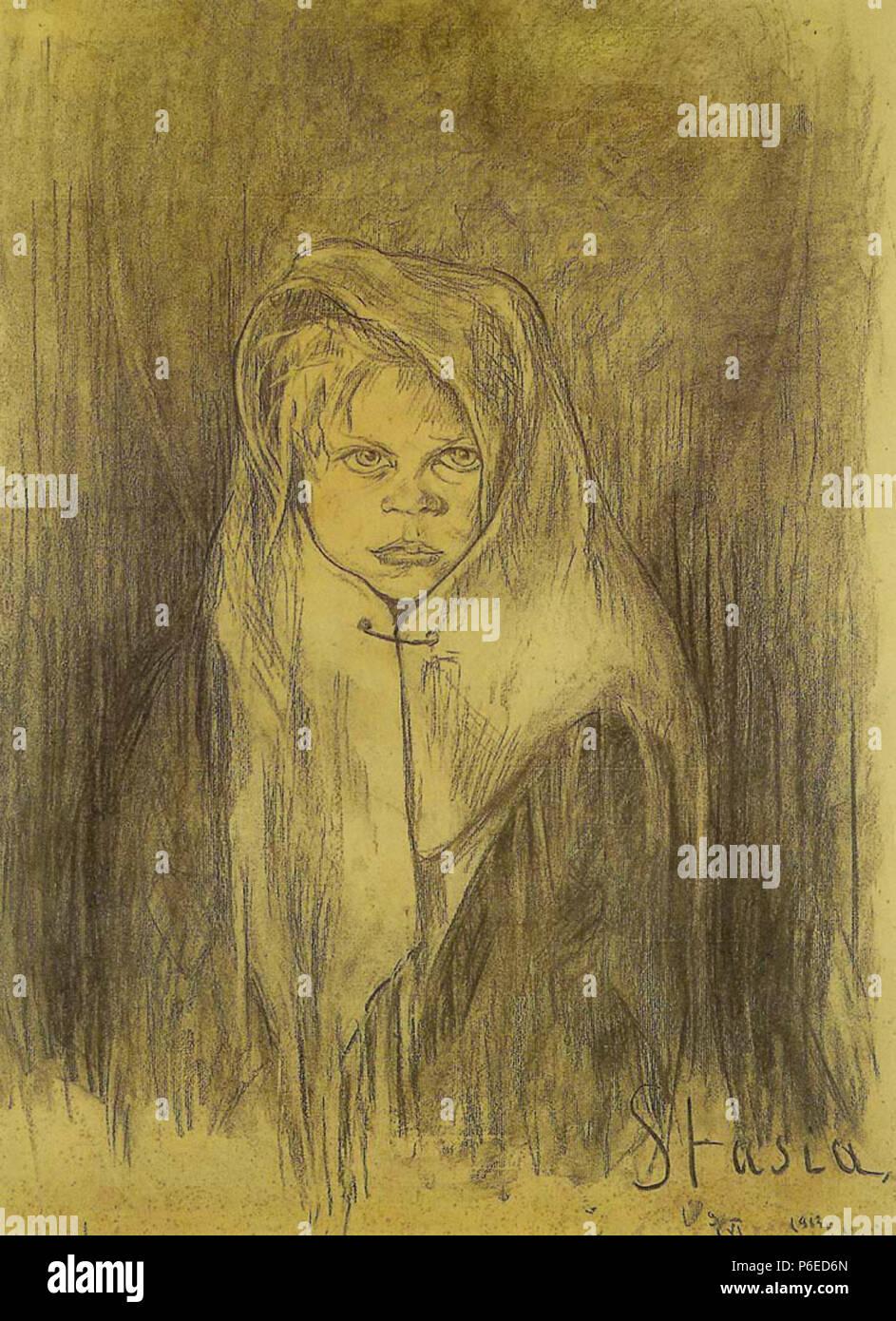 Polski: 'Stasia', wgiel na papierze, 63 x 48 cm, Muzeum Pomorza, rodkowego Supsk . 9 juin 1913 81 Witkacy-Stasia Banque D'Images