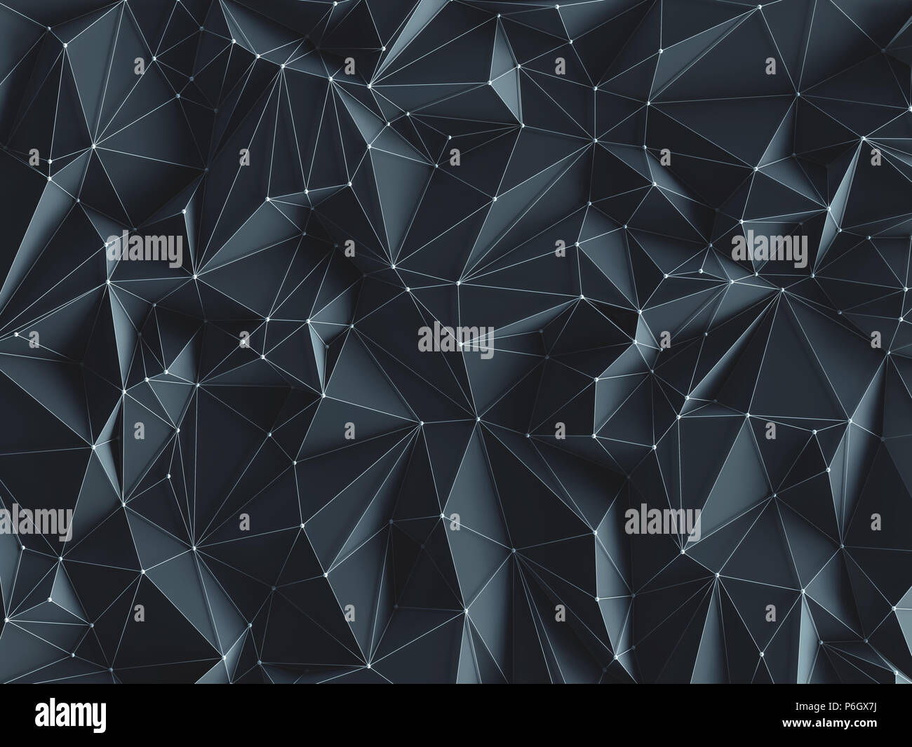 3D illustration. Abstract background image, in lines et géométriques formes triangulaires. Photo Stock