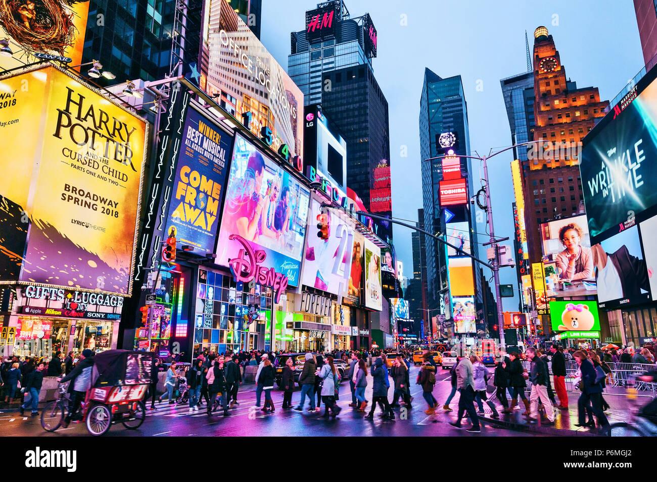 Les lumières de Times Square New York Manhattan New York Photo Stock