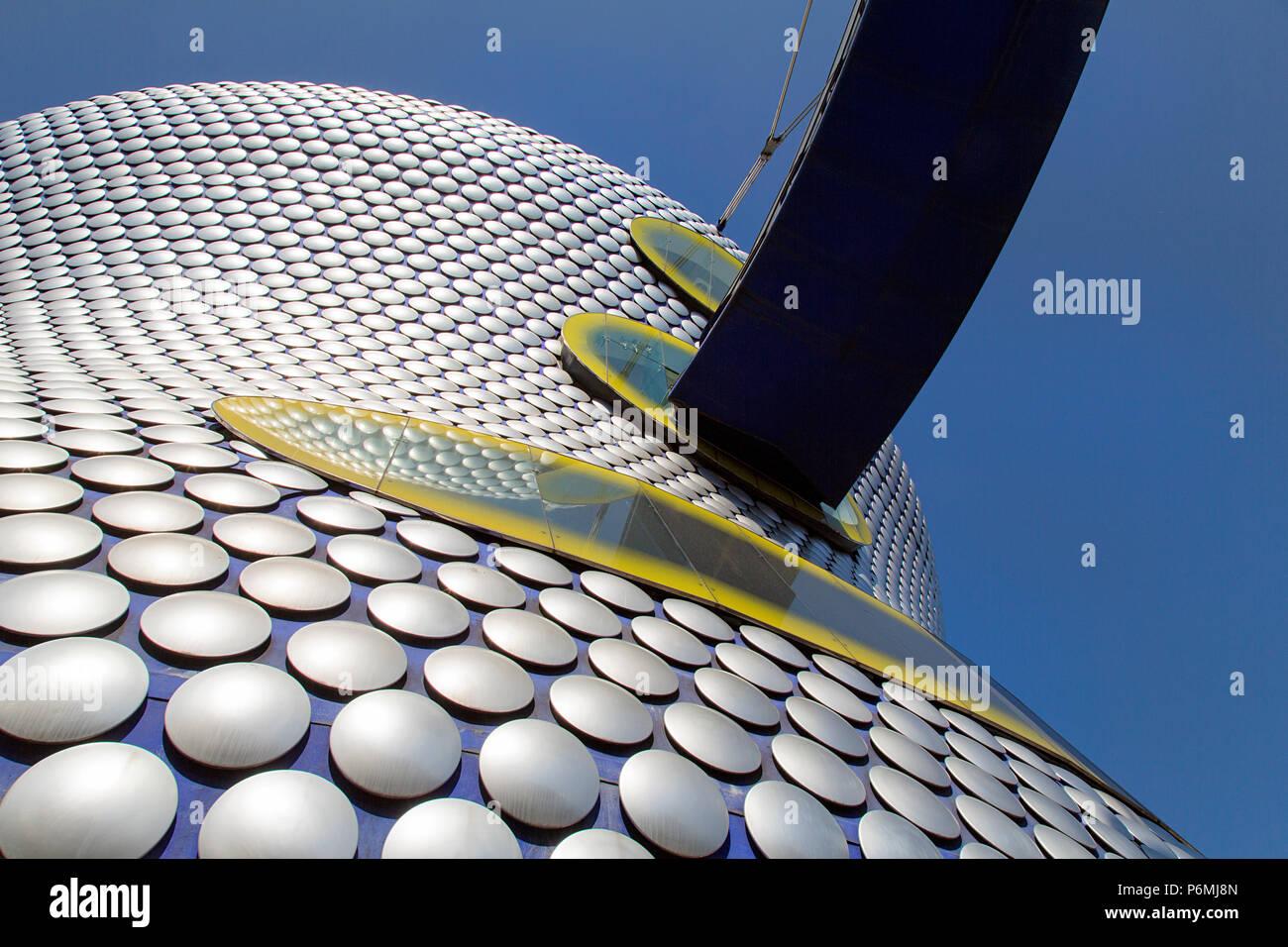 Birmingham, UK: 29 Juin 2018: Selfridges est l'un des plus caractéristiques de la ville de Birmingham et de monuments célèbres et une partie de la centre commercial Bullring. Photo Stock