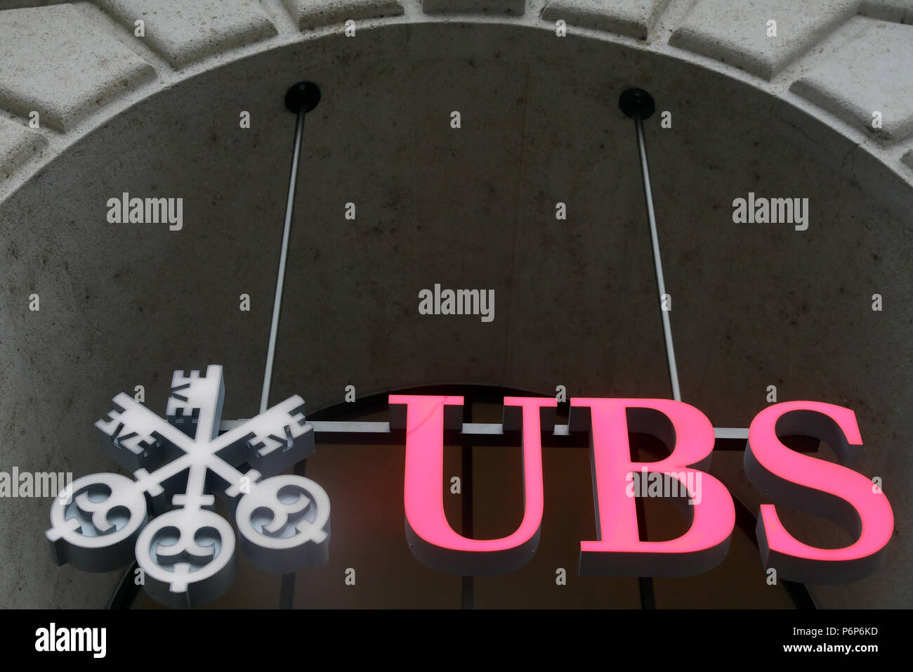 La banque suisse UBS. Bâle. La Suisse. Photo Stock