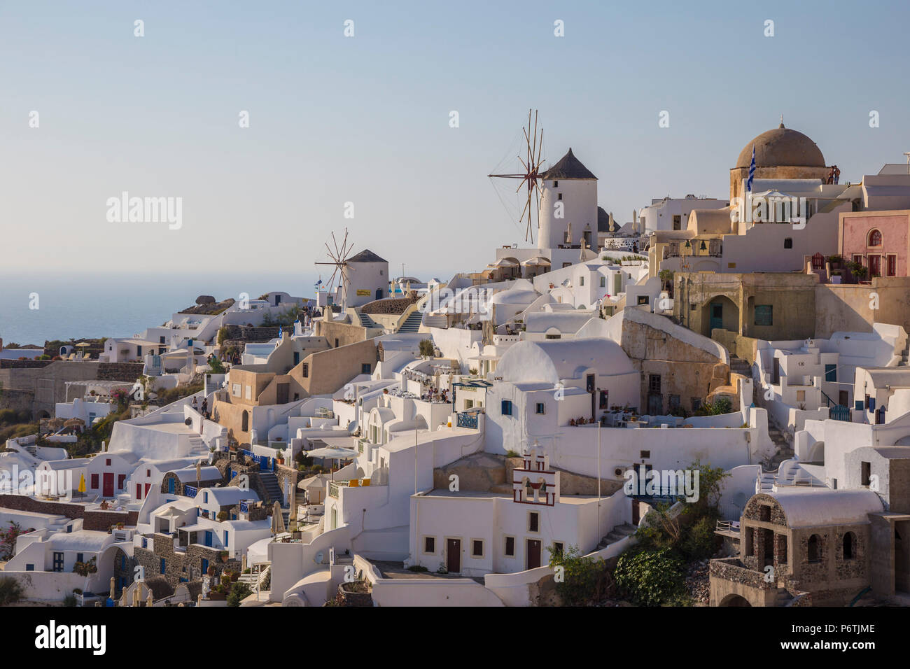 Oia, Santorin (thira), îles Cyclades, Grèce Photo Stock