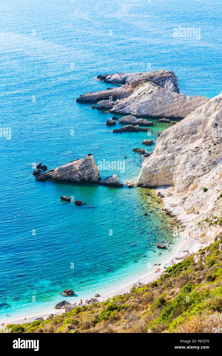 Littoral de la belle île de Céphalonie. Kefalonia, îles grecques, Grèce Photo Stock