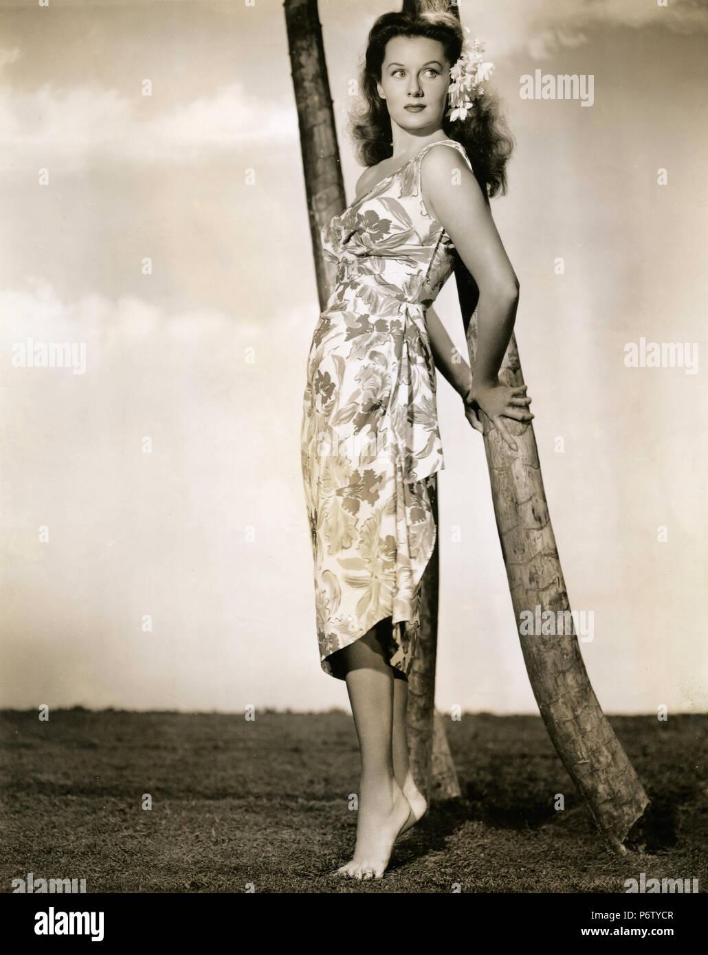 L'actrice américaine Rhonda Fleming dans le film l'île Adventure, 1947 Photo Stock
