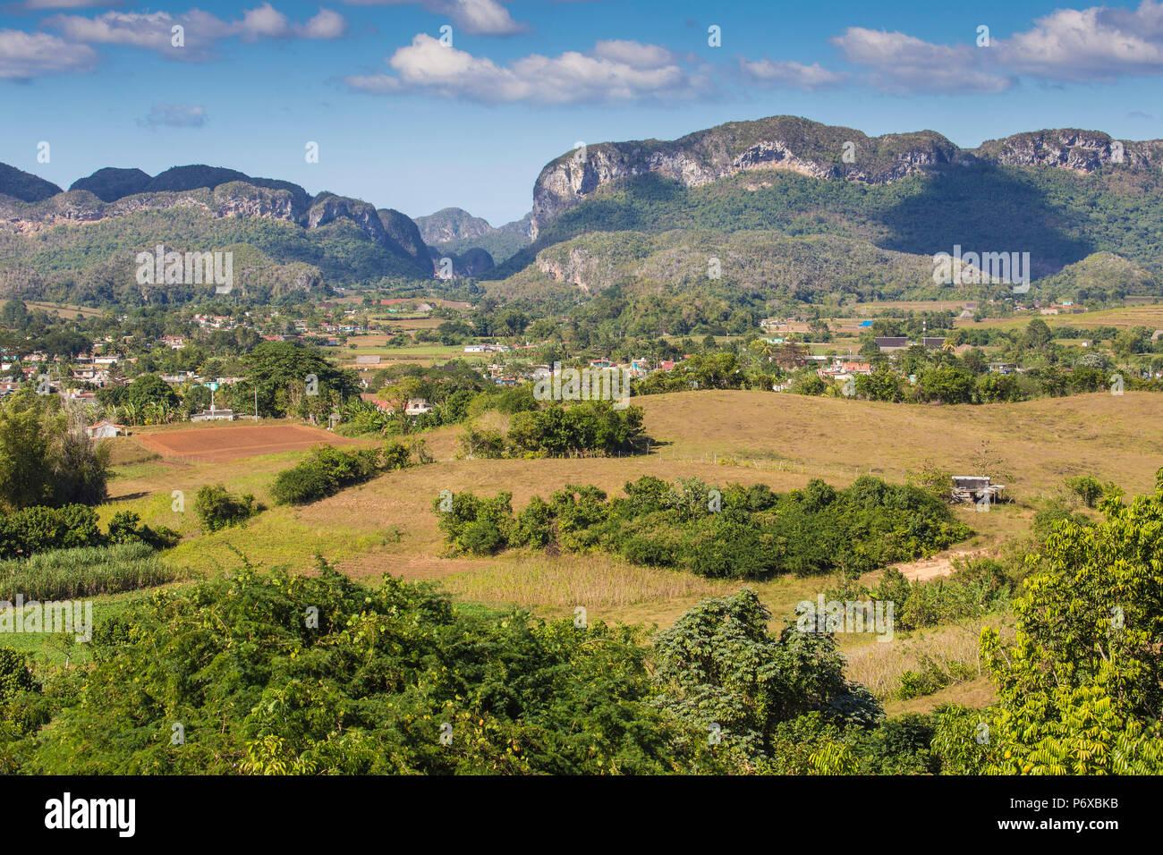Cuba, Pinar del RÃ-o, Province de Vinales, vallée de Vinales Photo Stock