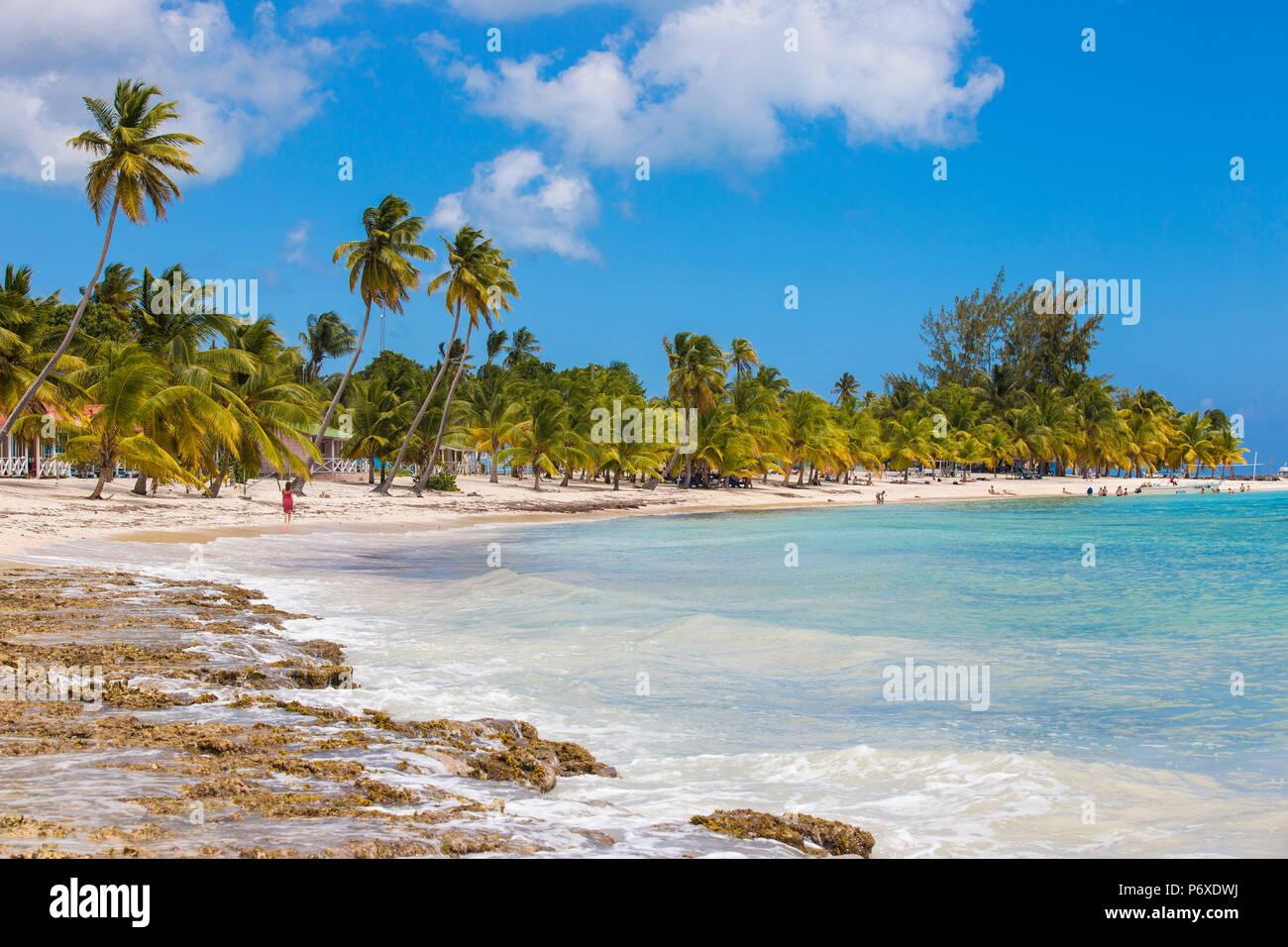 République dominicaine, Punta Cana, Parque Nacional del Este, l'île de Saona, Mano Juan, un pittoresque village de pêcheurs Photo Stock