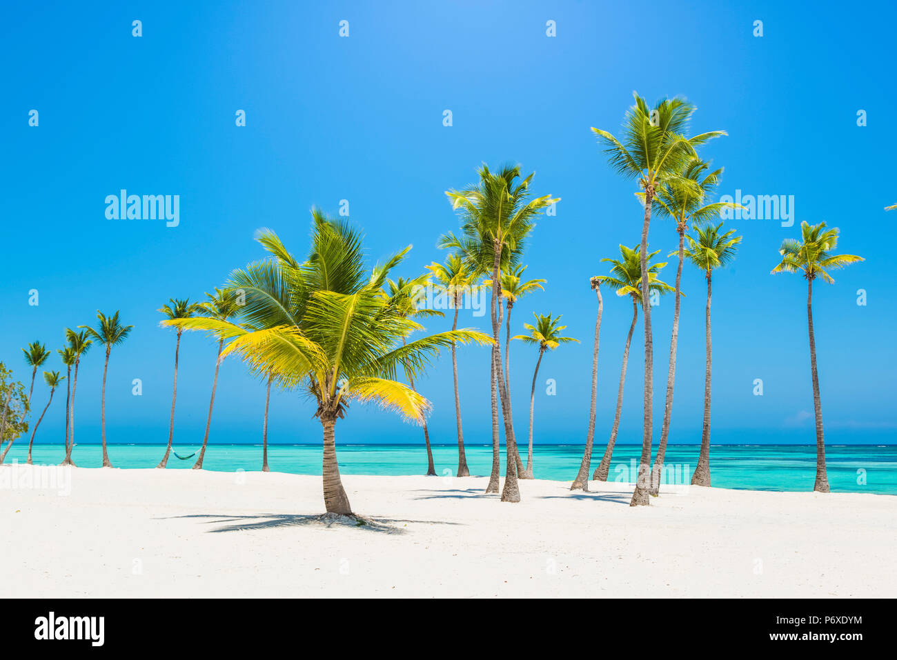 Juanillo Beach (playa Juanillo), Punta Cana, République dominicaine. Photo Stock