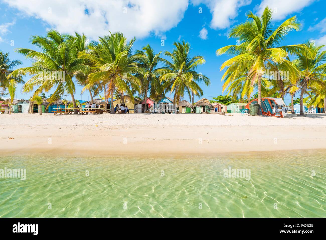 Juan Mano, l'île de Saona, à l'Est Parc National (Parque Nacional del Este), la République dominicaine, la mer des Caraïbes. Banque D'Images