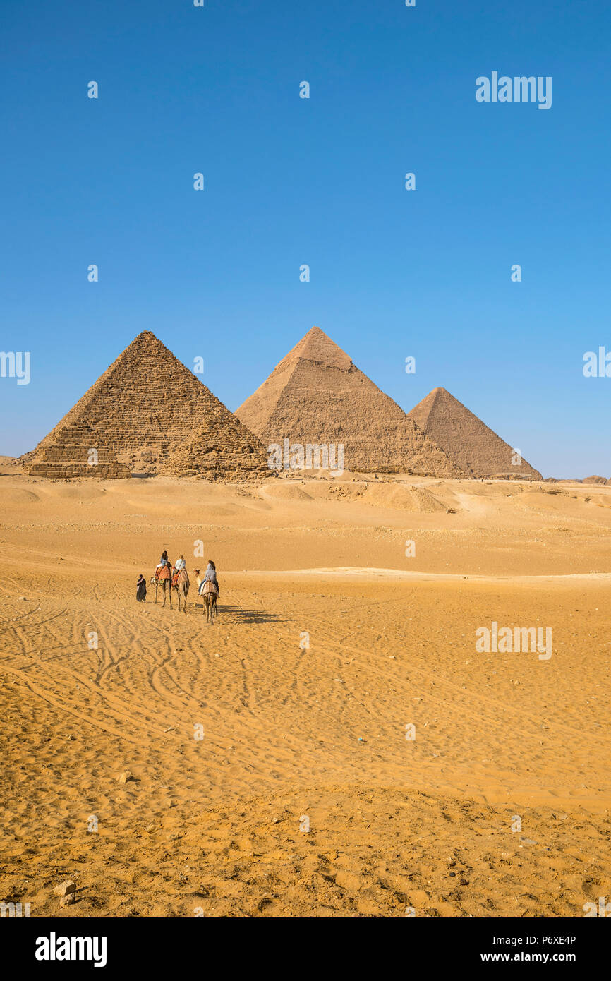 Pyramides de Gizeh, Giza, Le Caire, Egypte Photo Stock