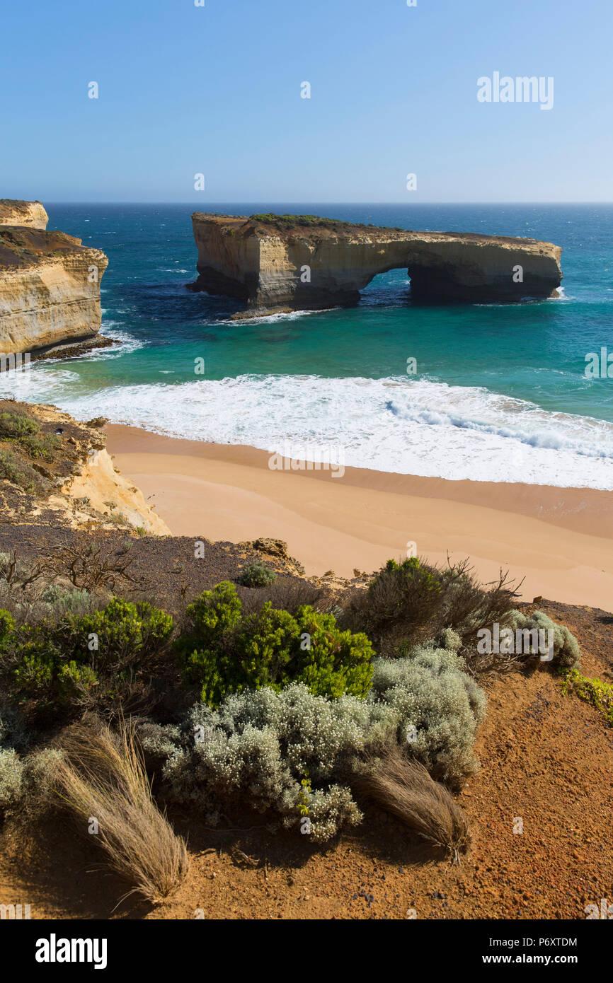 London Bridge, Port Campbell National Park, Great Ocean Road, Victoria, Australie Photo Stock