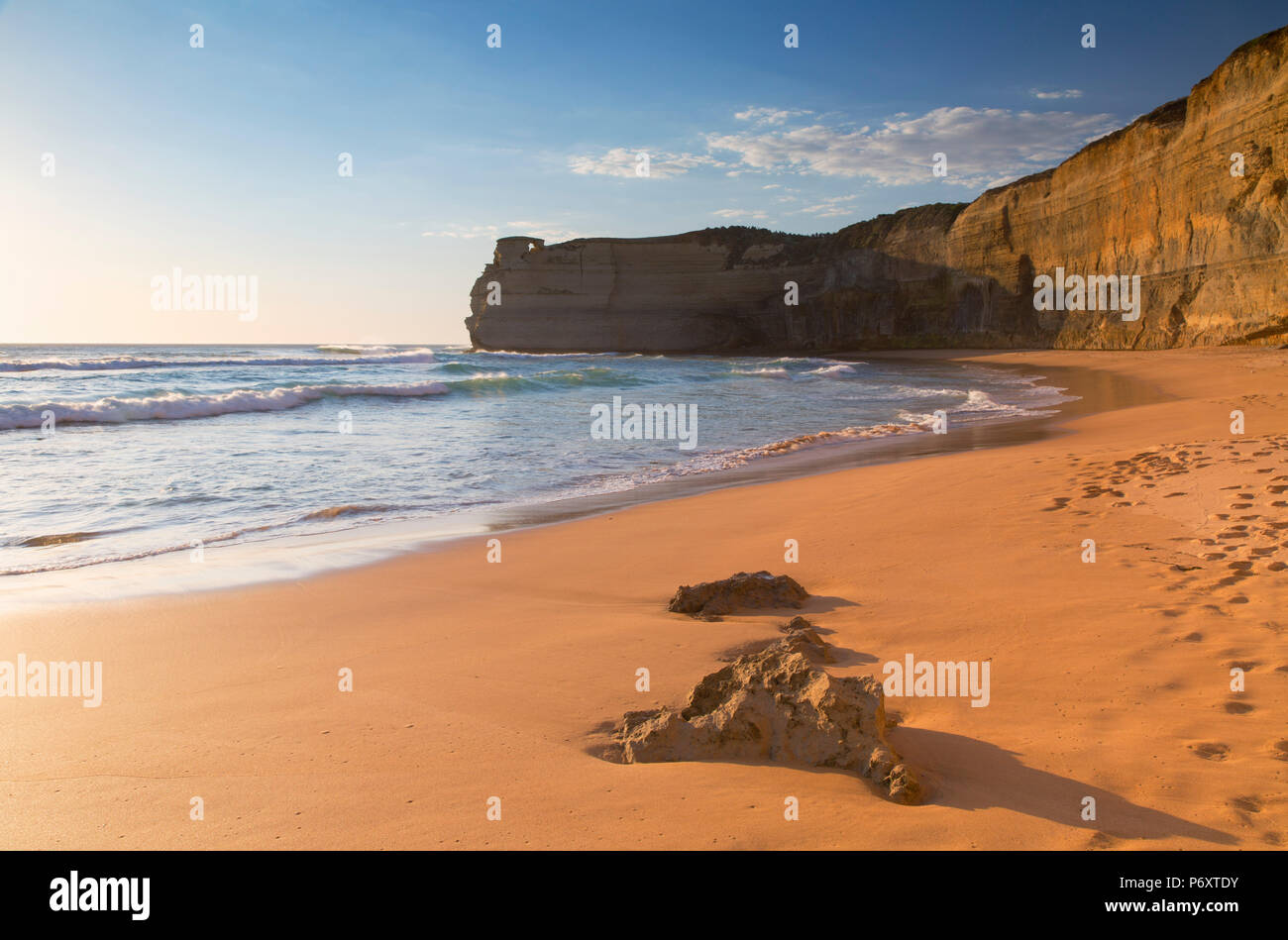 Plage de Gibson, Étapes Port Campbell National Park, Great Ocean Road, Victoria, Australie Photo Stock