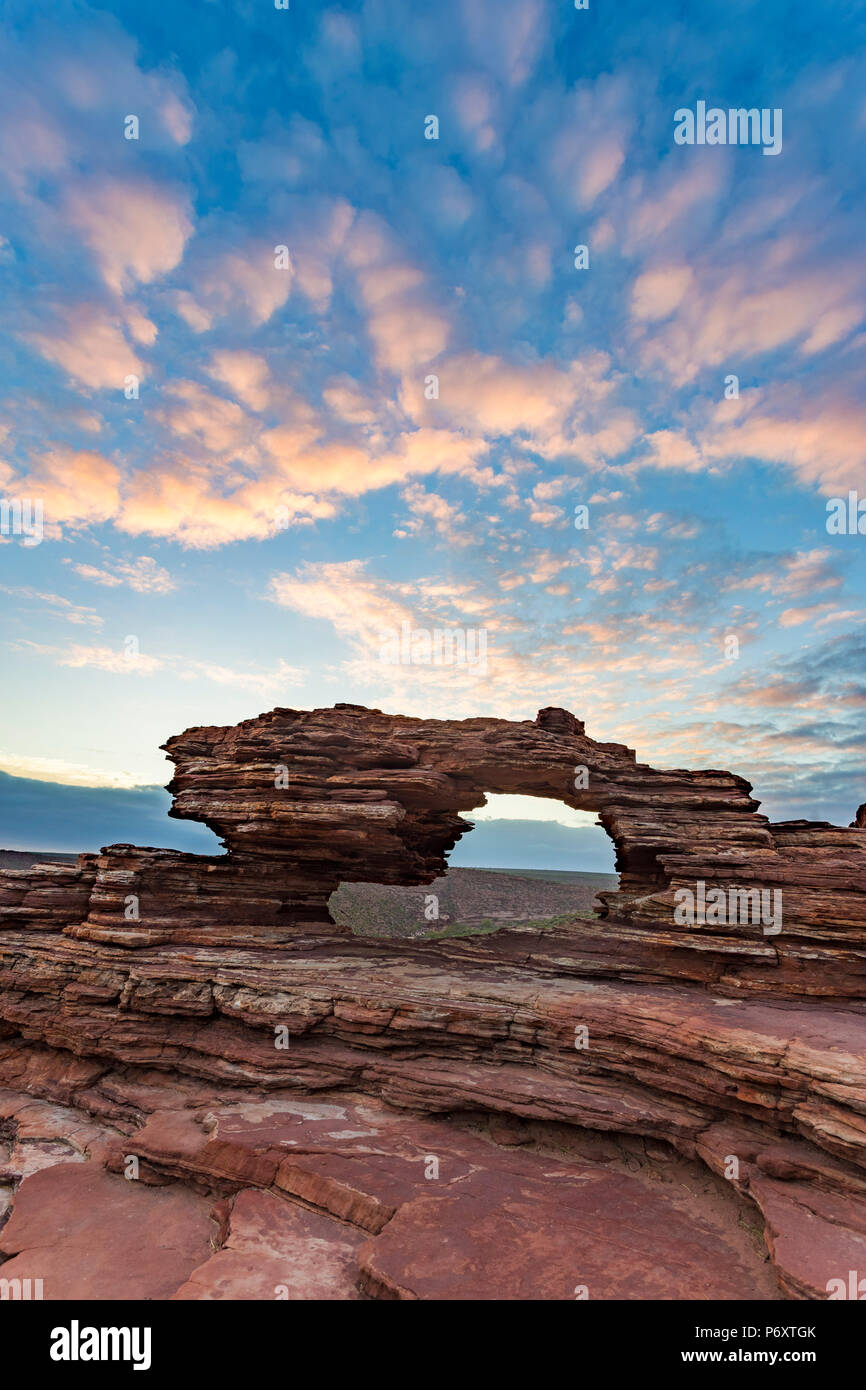 Parc national de Kalbarri, Fenêtre naturelle. L'ouest de l'Australie Photo Stock