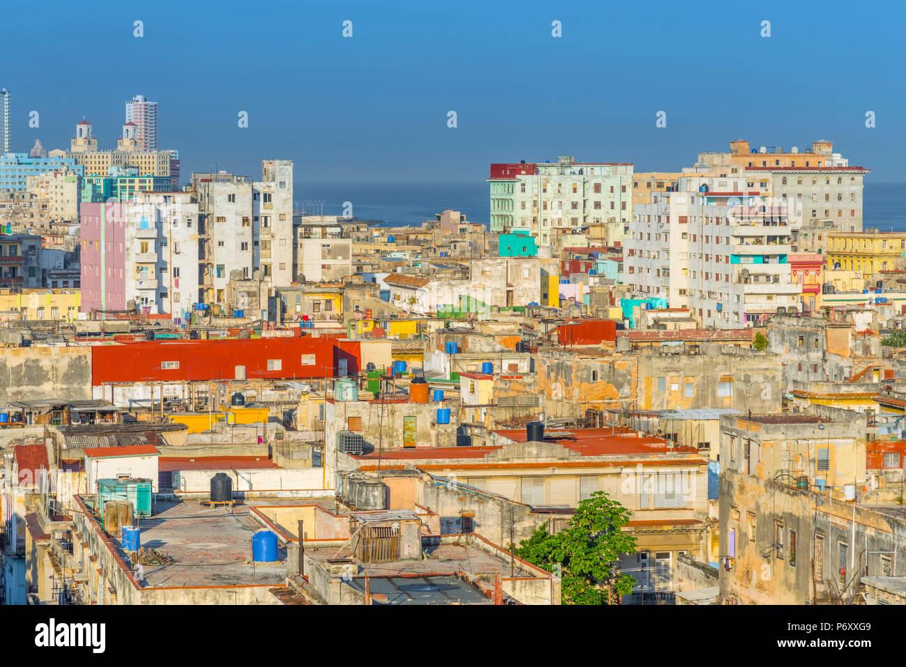 Cuba, La Havane, Centro Habana Photo Stock
