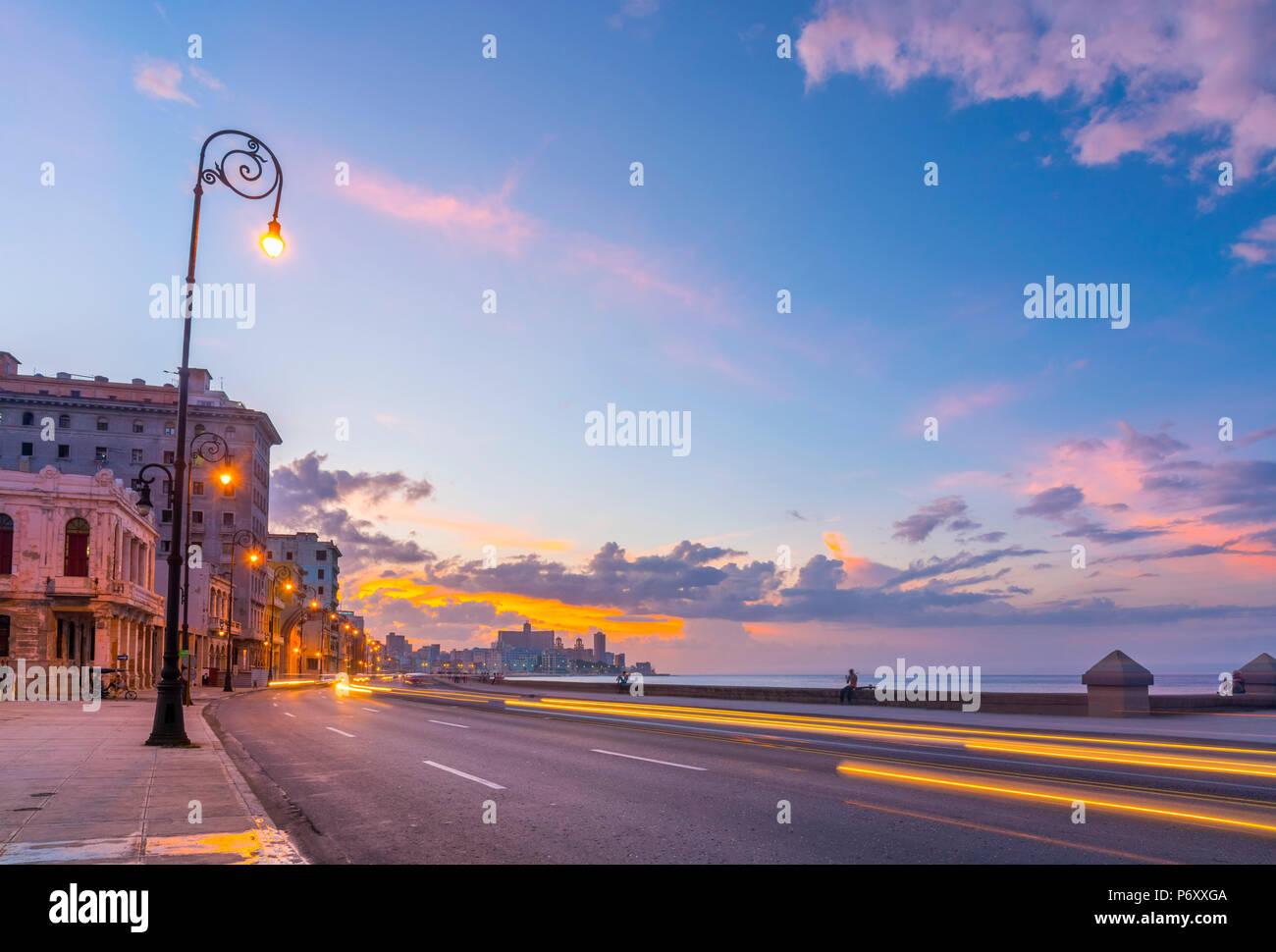 Cuba, La Havane, le Malecon Photo Stock